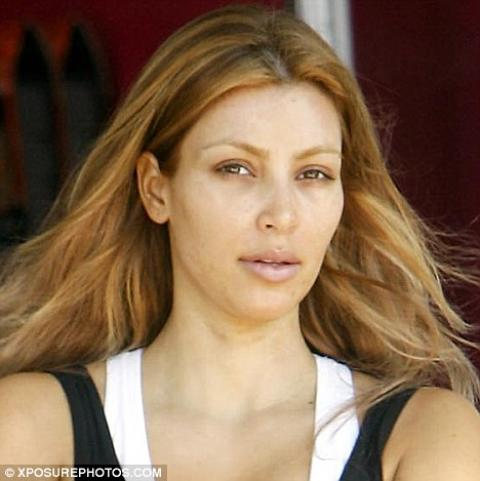 kim kardashian without makeup photo. kim kardashian without makeup